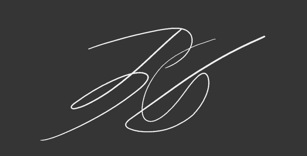 Unterschrift von Tom Gleitsmann